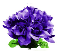 Velvet Bloom Roses in Purple